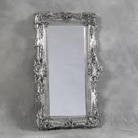 silver framed mirrors