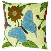 Chain Stitched Floral Cushion Cover 02