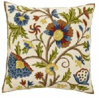 Chain Stitched Floral Cushion Cover 03