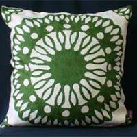 Hand Embroidered Kashmir Crewel Pillow
