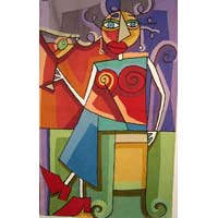 Picasso Chain Stitched Rug 04