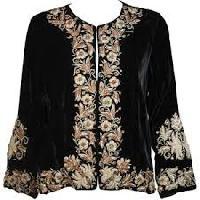Velvet Embroidered Jacket