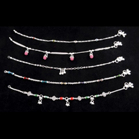 Light Silver Anklets