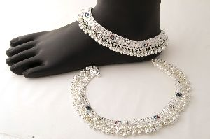 Silver Ghungroo Anklets