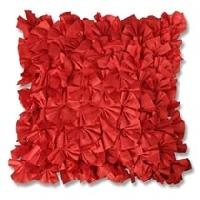 Red Feather Cushion Cover