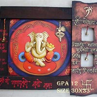 Metal Ganesh Wall Hanging