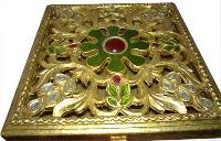 Golden Painted Wooden Box