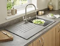 grey granite sink