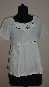 Cotton Crepe Lace Blouse