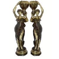 brass european figures