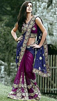 Hand Embroidered Net Sarees