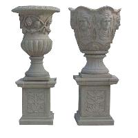 and artificial marble flower pot