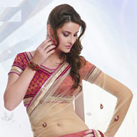 Georgette Lehenga Style Saree With Blouse
