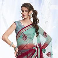 Satin Lehenga Style Saree