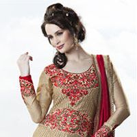 Violet Art Silk Salwar Kameez