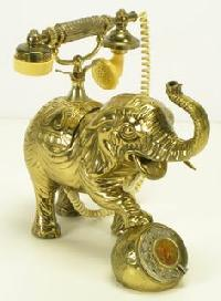 Crafted Brass Telephones
