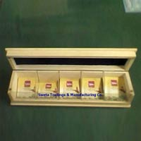 5 Compartment Wooden Tea Packing Box