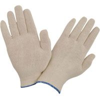 Seamless knitted gloves