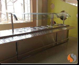 Bain Marie With Tray Slide & Sneeze Guard