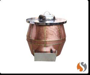 Copper Cladded Drum Tandoor