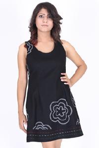 Black Embroidered Peplum