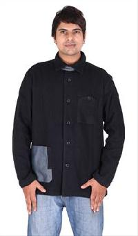 Black Twill Shirt Jacket