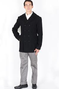 Brushed Wool Pea Coat