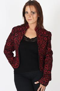 High Collar Embroidered Jacket