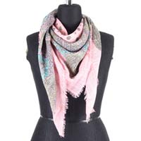 Peach Textured Scarf