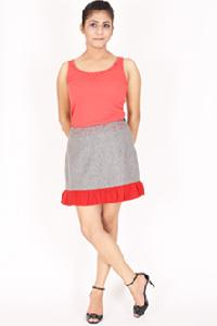 Silver Gray Mini Skirt