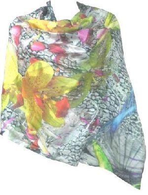 Ladies Printed Cashmere Silk Shawls