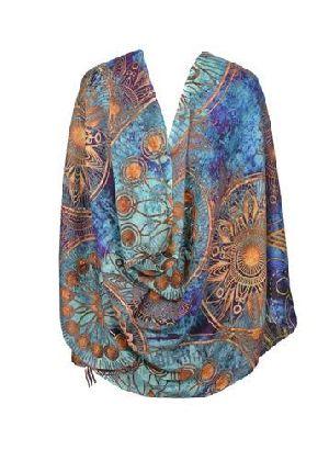 Ladies Digital Printed Linen Scarves