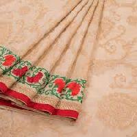 Hand Embroidery Silk Saree