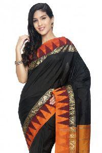 Slv84-mn Sudarshan New Kanchipuram Black Silk Saree