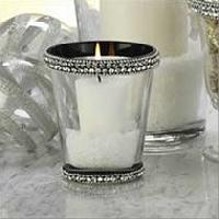 Glass Beaded Candle Holder