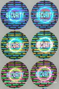 Custom Red Security Warranty VOID Sticker With Custom Design and Barcode  with Numbers As Self Adhesive