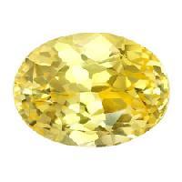oval yellow sapphire