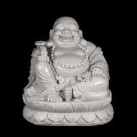 White Marble Laughing Buddha Statues