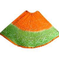 Silk Bandhani Skirt