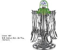 S.s. Cutlery Set 24 Pcs. ( Revolving)