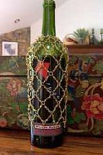 Beaded Wine Bottle Holder