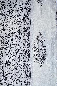 block printed double bed sheets