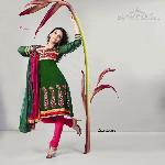 Designer Green Salwar Kameez Dress Material