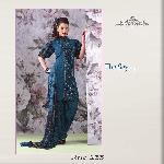Indian Designer Blue Unstitched Salwar Suit