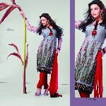 Indian Designer Grey Unstitched Salwar Suit