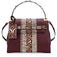 beaded satchel bag
