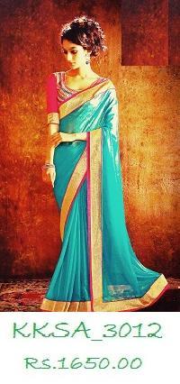 Exclusive Saamoor Silk Saree With Bp