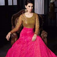 Beckoning Magenta Khadi Designer Anarkali Suit