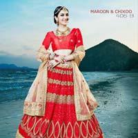 Best Red Fancy Net Designer Lehenga Choli