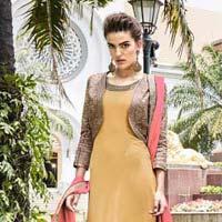 Distinctive Georgette Multi Colour Resham Work Designer Suit